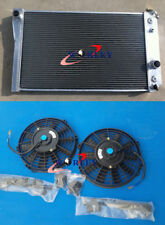 Aluminum radiator+FAN FOR Chevrolet Chevy S10 (W/ V8 Conversion) AT/MT 1982-2002