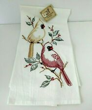 Flower Sack Towel Cardinals Brand New embroidered 100 percent cotton