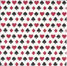 2 Serviettes en papier Rami Jeu cartes Decoupage Paper Napkins Rummy