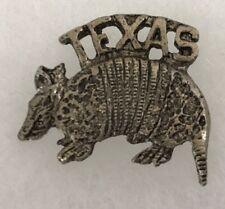 Vintage Texas Armadillo Tie Tac Lapel Pin Brooch Souvenir Collectable