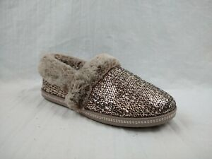 Skechers Cozy Campfire Dream Glam Rose Gold Slip On Slippers Womens Sz 9.5 W US