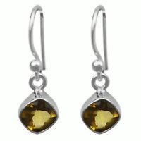 Citrine gemstone dangle earrings Jewelry 1.77 gms 925 Sterling Sliver