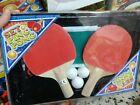 Set ping pong 2 racchette palline rete kit gioco di qualità giocattolo toy a35