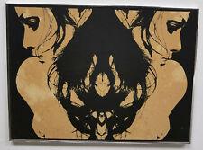 Antique Vintage MCM MId Century Modern Lithograph Silksreen Print Rorschach Ink