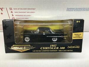 Ertl Collectibles American Muscle 1957 Chrysler 300 1:43 with Display Case New