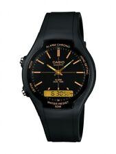 Casio Herrenuhr Uhr Arbeitsuhr Alarm Stopp Armbanduhr Schwarz AW-90H-9EVEF