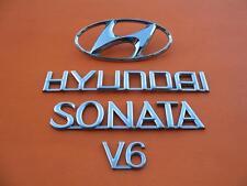 02 03 04 05 HYUNDAI SONATA V6 REAR LID CHROME EMBLEM LOGO BADGE SIGN OEM SET #8