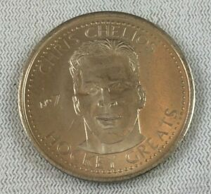 NHL 1996-97 Hockey Greats Coin #07-Chris Chelios-Chicago Blackhawks