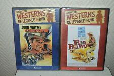 LOT 2 DVD CHISUM ET RIO BRAVO JOHN WAYNE WESTERN DE LEGENDE ATLAS  NEUF