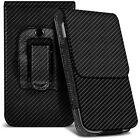 Veritcal Carbon Fibre Belt Pouch Holster Case For Asus Zenfone 5 A500KL