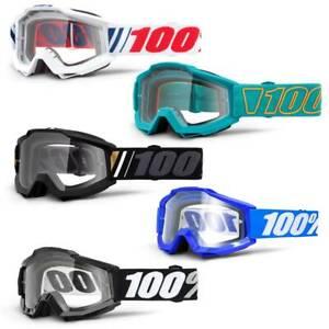 100% Accuri Goggle - Clear Lens - Mountain Bike MTB Motocross MX 100 Percent