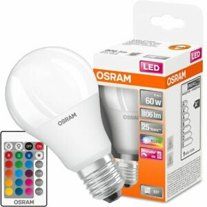 Osram LED Retrofit RGBW E27 A60 9W 827 806lm Frosted | Dimmable