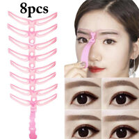 8PCS Women Eyebrow Stencil Kit Eyebrow Grooming Stencil Shaping Template