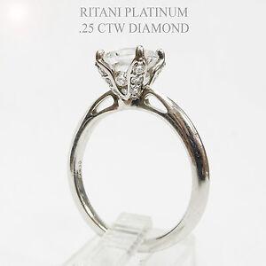 Ritani Platinum Engagement Ring for 1 To 1.25 ct Diamond
