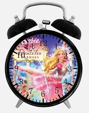 "Barbie Doll Alarm Desk Clock 3.75"" Home or Office Decor Y97 Nice For Gift"