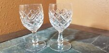 """2 Unknown Unk1241 Water Goblets Glasses 6 1/8"""""""