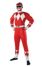 Mens Power Ranger XL Red Mighty Morphin Fancy Dress Adults 1990s Costume Outfit