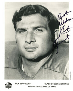 NICK BUONICONTI SIGNED 8x10 HALL OF FAME PHOTO MIAMI DOLPHINS RARE BECKETT BAS