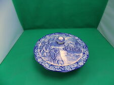 Staffordshire Liberty Blue Boston Tea Party Vegetable Tureen