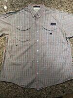 Columbia PFG Super Bonehead Men's Vented Fishing Shirt Omni Shade Large L Plaid