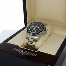 LONGINES HYDROCONQUEST CHRONOGRAPH AUTOMATIK ARMBAND UHR IN STAHL 41 MM L3.644.4