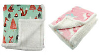 """Plush Sherpa Throw Blanket for Couch by Pavilia 50""""x60"""" Luxurious Fleece Blanket"""