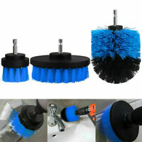 Power Scrubber 3 Blue Drill Brush Set Cleaner Spin Tub Shower Tile Grout Wall