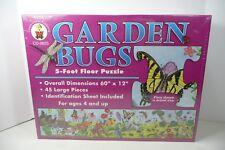 Huge Garden Bugs Floor Puzzle Flowers Dragonflies Butterflies Never Opened