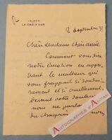 L.A.S 1931 Abel FAIVRE Peintre VALMER par LA CROIX VAR Lettre - Charnoz - Lyon