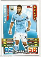 2015 / 2016 EPL Match Attax Base Card (151) Gael CLICHY Manchester City