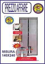 TENDA MOSCHIERA ZANZARIERA PER PORTE BALCONI MAGNETICA CM 140X240