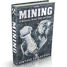 Bergbau Bücher 166 Vintage Books on DVD Kohle Mineralien Edelsteine Gold Silber Kundenakquise
