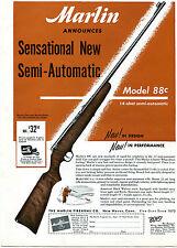 1949 Print Ad of Marlin Model 88c .22 Rifle 14 Shot