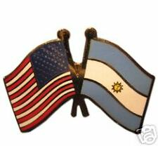 Argentina Friendship with US Flag Lapel Badge Pin