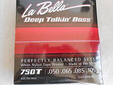 La Bella 750T White Nylon Tape Wound Bass Guitar Strings - Light .50 - .105