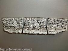 3 x Felswand Module mit Plateau grau Terrarium Rückwand Dekoration Rückwandbau