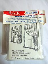Kirsch TIEBACK SUPPORT 7650 Vintage Protection 3.5 to 10 Inches NIP