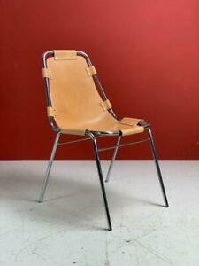 BROWN CHARLOTTE PERRIAND LES ARCS REPLACEMENT LEATHER CHAIR SEAT MIDCENTURY#2867