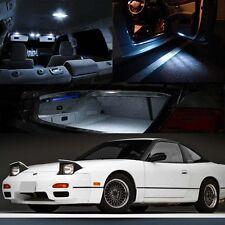 FOR 89-94 Nissan Silvia 240sx S13 White Xenon Interior LED T10 Festoon 158 194