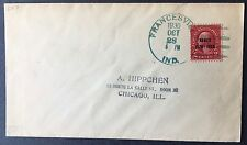 Cover 1930 2c precancel Hawaii issue #647 on cover Francesville IND to Chicago