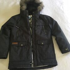 Columbia Boys Grey Blue Barlow Pass Turbodown Parka Jacket M