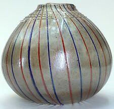 Handblown Art Glass Vase with Gold Flakes vintage austrian italian
