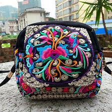 Women's Boho Embroidered Handbag Messenger Cross Body Shoulder Clutch Bag Purse~