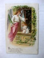 1907 Angel w/ Palm and Little Girl From Germany