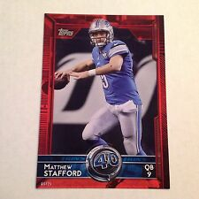 #335 Matthew Stafford Georgia / Lions T60 # Ed/25 Fabriqué Version Rouge 2015