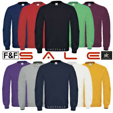 Mens Lightweight  Sweatshirt B&C Raglan Sweat Shirt Plain Top Size S - XXXL