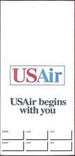 USAir ticket jacket wallet rev 11/91 [6124] Buy 4+ save 50%