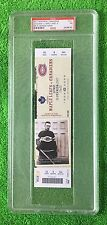PSA 7 GEORGES VEZINA HOCKEY TICKET (Full Unused) Canadiens 100th Anniversary