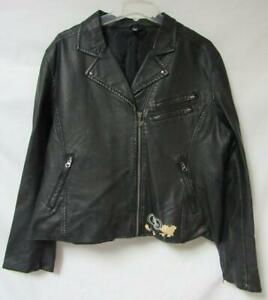 Touch San Francisco 49ers Womens 2XL Faux Leather Jacket DAMAGED A1 2695