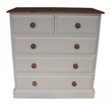 UK Hand Made Solid Pine Bedroom 2 Over 3 (5 Drawer) Chest of Drawers